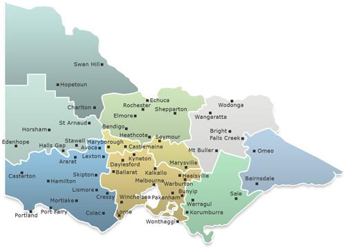 Victorian Bushfires Map